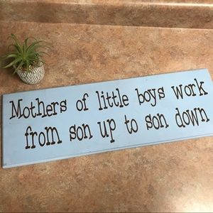 Mothers of boys sign